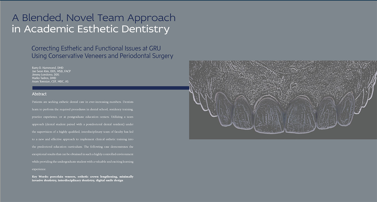 Book cover of A blended, Novel Team Approach in Academix Esthetic Dentistry by Dr. Kim